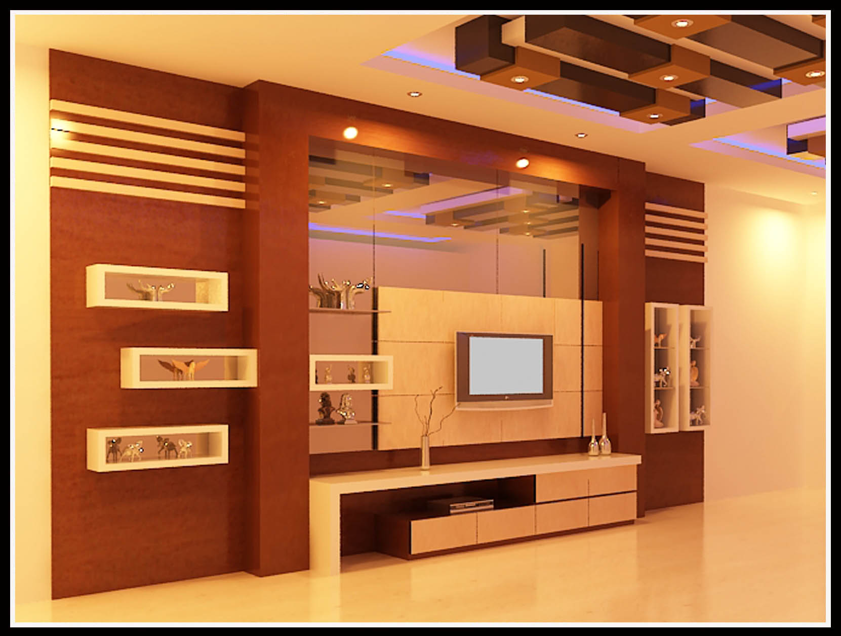 Interior design lemari tv pajangan 2 istana kado for Interior design minimalis
